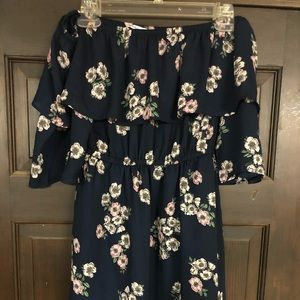 Cupcakes and Cashmere off the shoulder dress